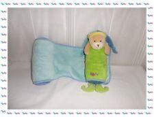♠ - Doudou Cale Bébé Ours Vert Bleu Coussins Baby Nat