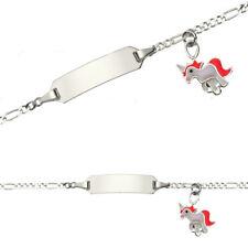 Einhorn Gravur Armband Name Datum Mädchen Geburtstag Taufe Armkette Silber 925