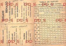 CICLISMO BICICLETTA 1934 MELANI TORINO CICLI GLORIA VELOCIPEDI PUBBLICITà