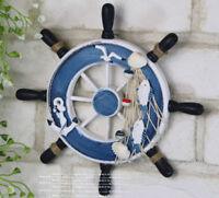 23cm/9'' Nautical Anchor Boat Ship Steering Wheel Fishing Net Home Party Decor