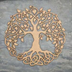 bmb shoppe mdf wooden tree shape with laser cutting decor item wooden color