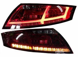 LED RÜCKLEUCHTEN AUDI TT 8J 06-14  8S-OPTIK ROT RAUCH LED HECKLEUCHTEN TTS