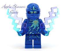 NEW Lego Ninjago NRG JAY NINJA MINIFIG - Blue Minifigure w/Lightning Bolts 9570