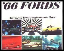 1966 Ford Sales Brochure- Mustang, T-Bird, Galaxie!