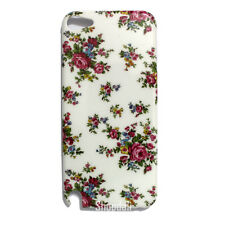 Rose Flower Hard White Case Cover Skin for Apple iPod Touch 5 Gen 5th Generation