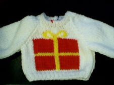 Customized Christmas Present Gift Sweater Handmade for 18 inch Build A Bear