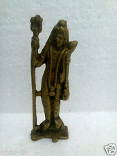 Hindu God Lord Shiva Old Brass Statue Figurine - (Height- 5.51 inches)