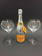 Veuve Clicquot 'Rich' Champagner 0,75l 12% Vol + 2 Rich Glas Gläser Flutes