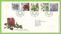 G.B. 2002 Christmas set on Royal Mail First Day Cover, Tallents House