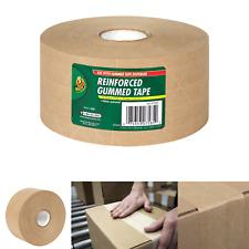 Duck Fiberglass Reinforced Gummed Kraft Paper Tape Water Activated 275 Inc