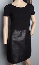 Theory Black Solora Training Combo Lamb Leather Dress S 4 $480