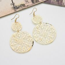 Women's Gold Silver Plated Party Large Circle Multi-layer Hoop Stud Earrings