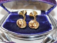 ART DECO Antique heavy 18 k GOLD Plate KNOT Cuff links