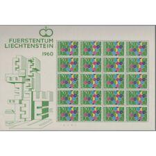 1960 LIECHTENSTEIN EUROPA 1 HOJA DE 20 MNH MF57023
