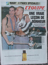 L'Equipe du 23/5/1995 - Rugby (Guide coupe du Monde) - Hand : les français..
