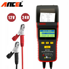 Car Battery Tester 12V 24V Heavy Duty Truck Charging System Analyzer Print Tool