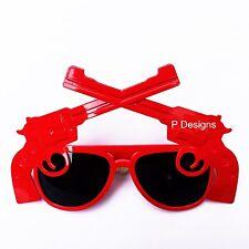 Funny Crazy Gun Glasses Costume Party Sunglasses Fancy Dress Period Accessories