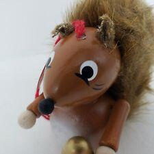 Vintage Steinbach Squirrel Wooden German Christmas Ornament