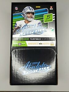 2020 ABSOLUTE NFL Football Dollar Tree Gravity Feed Box 48 Packs - Sealed Box