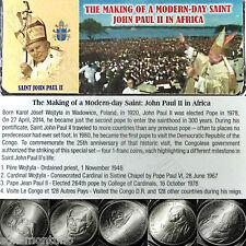 CONGO 2004 POPE JOHN PAUL II in AFRICA - 4 Coin Set - Making of Modern-Day Saint