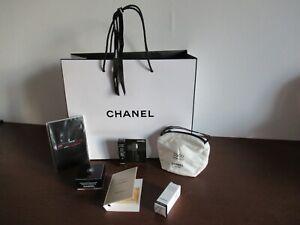 CHANEL lot Gabrielle Mascara Carnet Crème Sac échantillon Parfum neuf + pochette