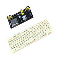 MB102 Breadboard Power Supply Module + 830 Tie Points Solderless PCB Breadboard