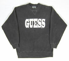 VTG 90s Guess Georges Marciano Sweatshirt L USA Acid Grunge Skate NYC ASAP