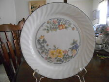 "Orchard Rose Dinner Plate (s) 10 1/4"" Corelle Glass White Green Blue Orange !"