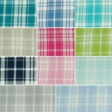 100% Cotton Fabric Plaid Tartan Style Gingham Check Squares 140cm Wide