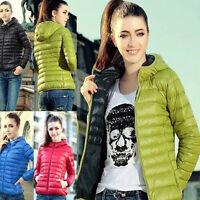 US NEW Women's Short Coat Hooded Coat Parka Jacket Winter Warm Outwear GIFT