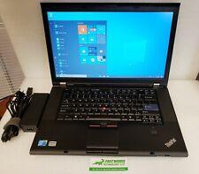 "Lenovo ThinkPad T510 15.6"" HD Laptop Core i5-M540 2.53GHz 6GB 128GB SSD WIN 10"