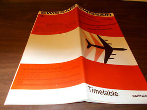 1971 Swissair Airline Time Table / August 15, 1971