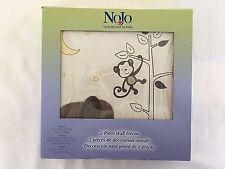 Nojo Dreamy Nights 2 Piece Appliqued Canvas Nursery Wall Decor 10x10x3/4 inches