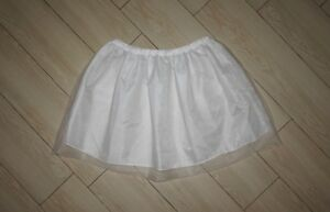 Girls MINI BODEN Tulle Skirt Pettiskirt Under Skirt Petticoat White 7 8Y