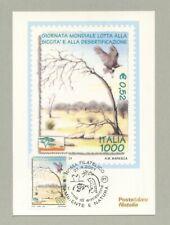 LOTTA ALLA SICCITÀ E DESERTIFICAZIONE CARTOLINA FILATELICA 2001 - MAXI CARD