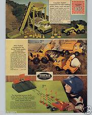 1971 PAPER AD Structo Toy Horse Truck Camper Construction Mini Tonka Raceway