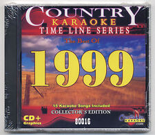 CHARTBUSTER KARAOKE CB-80016 COUNTRY BEST OF 1999 TIME LINE SERIES NEW CD+G, OOP