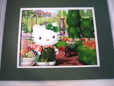 Irish Hello Kitty St Patricks Day 11x14 Dble matted 8x10 art print Cat Kitten