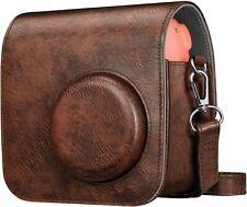 Case for Fujifilm Instax Mini 7+ Instant Camera Vegan Leather Bag Cover w Strap