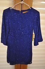 Alice + Olivia Mini NWT Size 0 Cobalt Blue Sequin Club Dress