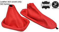 RED REAL LEATHER GEAR & HANDBRAKE GAITER FOR ALFA ROMEO GIULIETTA 2010-2017