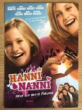 Rosa und Laila Meinecke AK Hanni & Nanni Autogrammkarte original signiert