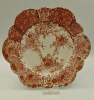Wileman Victorian Orange Jungle Pattern Daisy Shape Side Plate C1889 117220