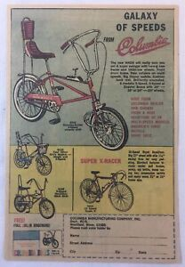 1970 Columbia bicycles ad ~ GALAXY OF SPEEDS ~ Mach 3, Super X-Racer, more