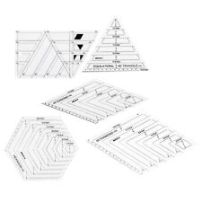 5Pcs Acrylic Quilting Ruler Sets Sewing Stencils for Patchwork Tailor Tools