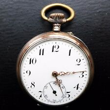 Men's Pocket Watch, Silver (0,800), Cylinder Obstruction, Good Function, approx.