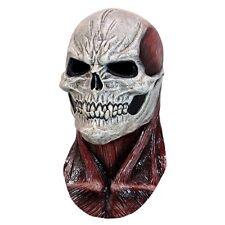 Flesh Skull Latex Mask Skeleton Haunted House Halloween Full Over Head Mask