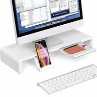 Computer Monitor Stand Adjustable Foldable Width Desktop Riser Storage