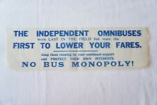 More details for independent omnibuses bus no bus monopoly poster