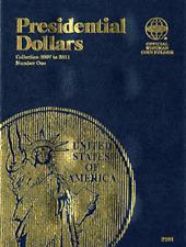 Whitman Presidential Dollar Coin Folder Book #1 2007-2011 #2181